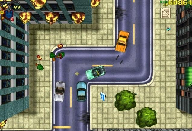 GTA1のゲーム画面