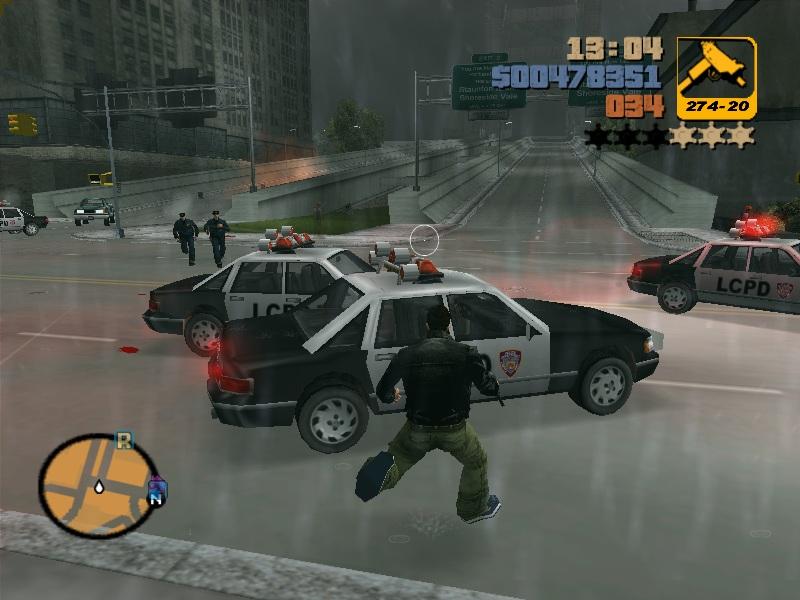 GTA3の画面